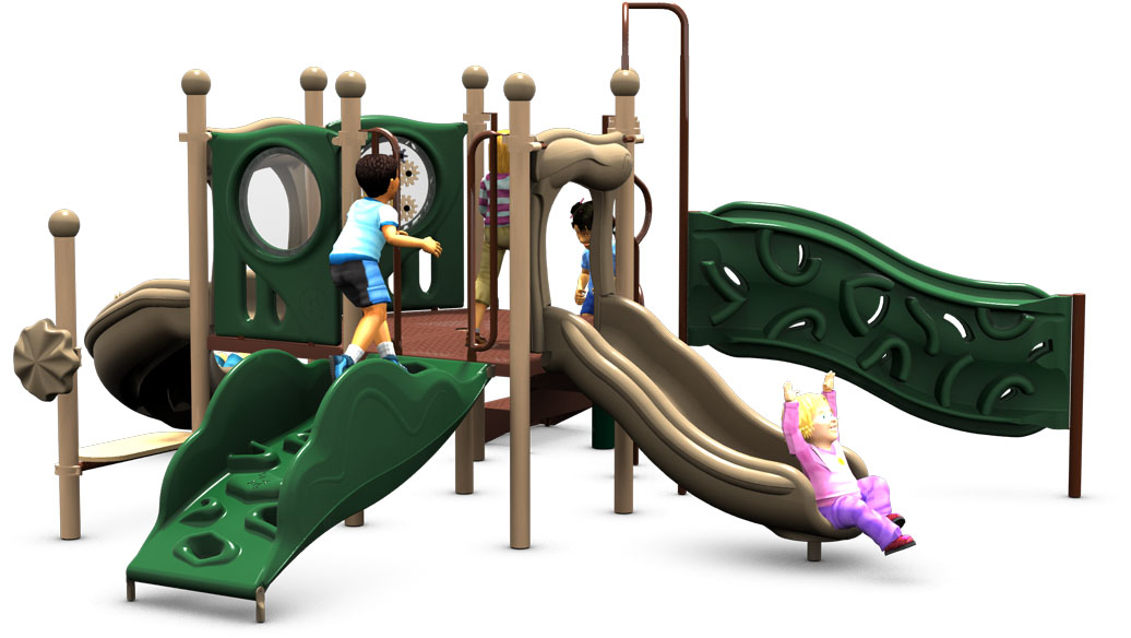 Primrose Path - Playground Equipment - Natural Color Scheme - Back View