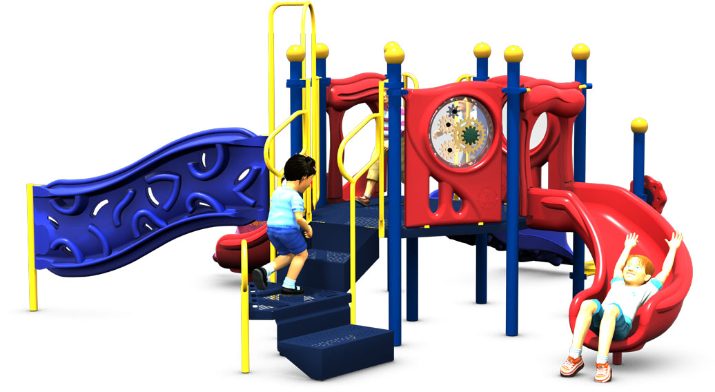 Primrose Path - Commercial Playground Equipment - Primary Color Scheme -Back View