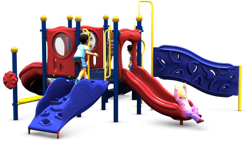 Primrose Path - Playground Equipment - Primary Color Scheme - Front View