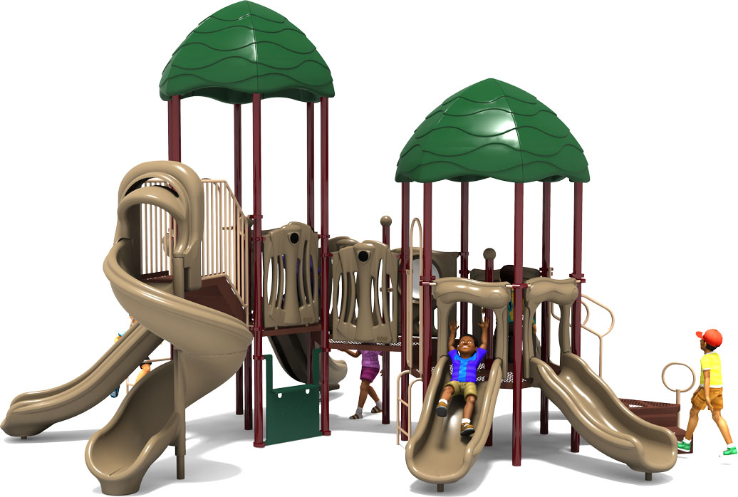 Raise The Roof - Commercial Playground Equipment - Natural Color Scheme - Front View