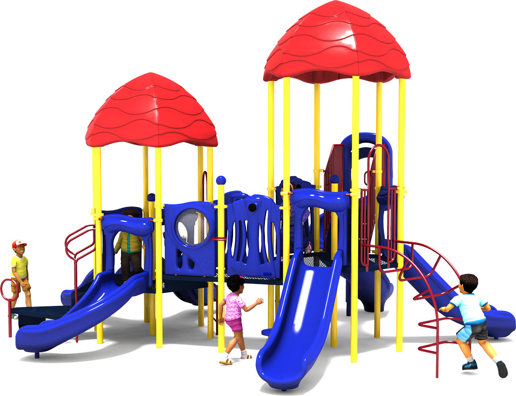 Raise The Roof - Commercial Playground Equipment - Primary Color Scheme - Back View