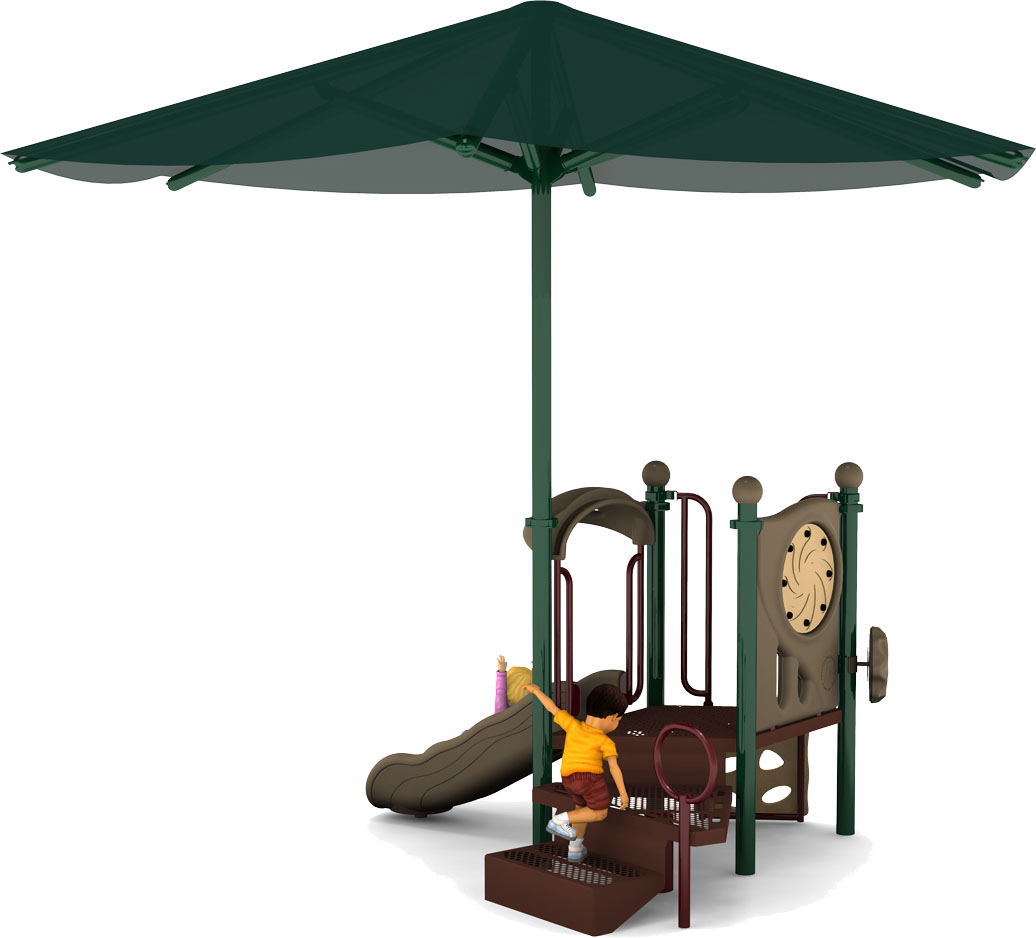 Jubilee - Playground Equipment - Natural Color Scheme - Front View