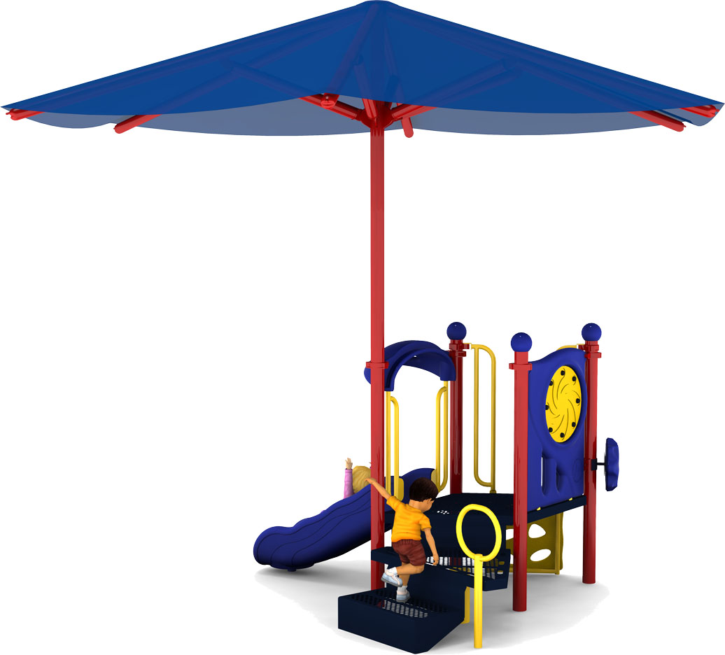 Jubilee - Back View - Playground Equipment - Primary Color Scheme