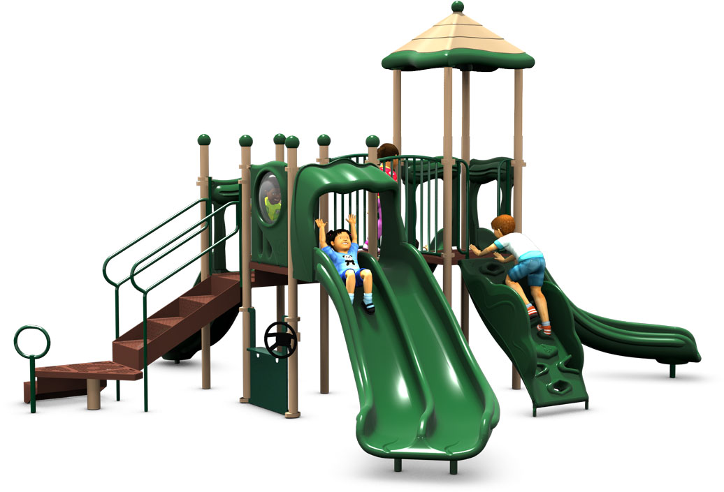 Magic Mountain - Commercial Playground Equipment - American Parks Company - Back