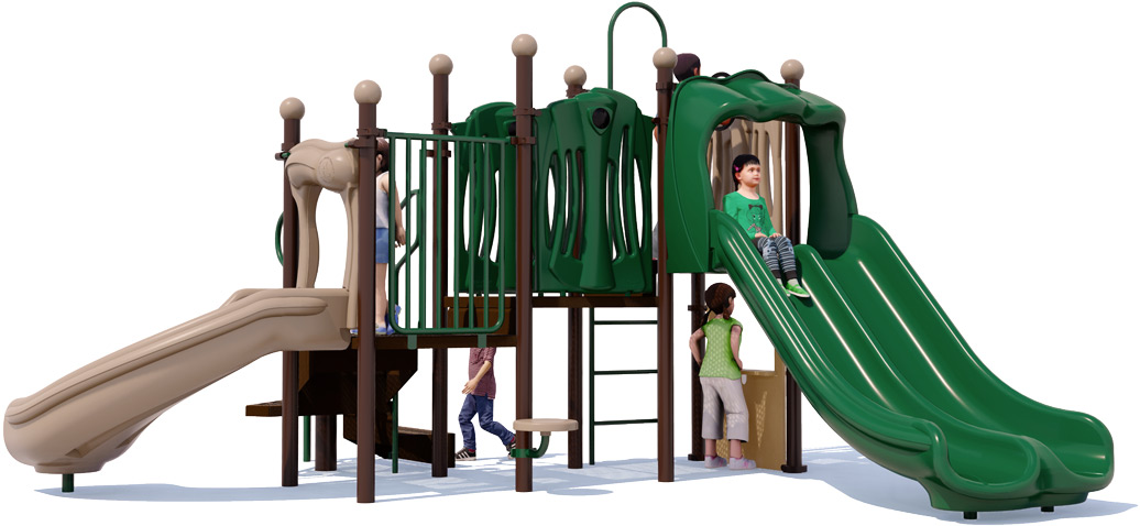 Nick Nack - Commercial Play Structure - Natural Colors - Front View