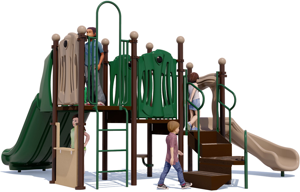 Nick Nack - Commercial Play Structure - Natural Colors - Back View