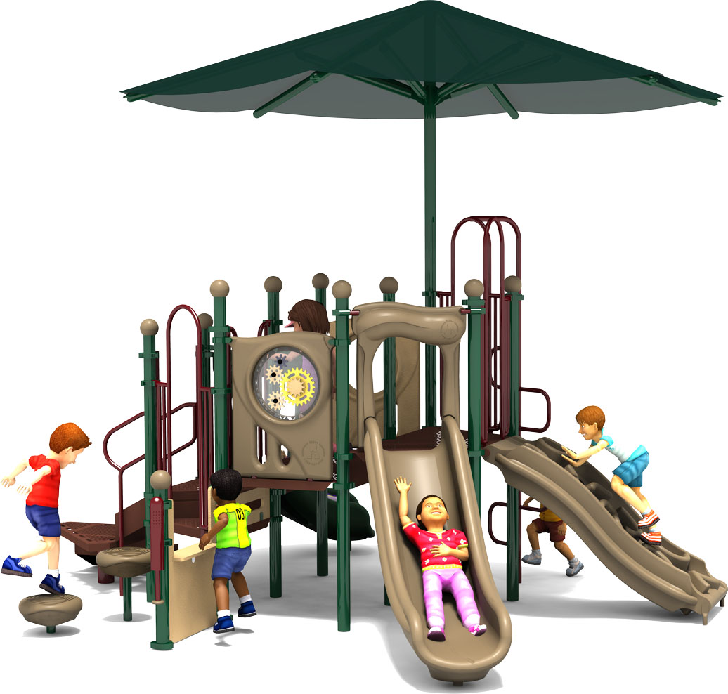 Tiddlywinks - Commercial Playground Equipment - Natural Colors - Front View