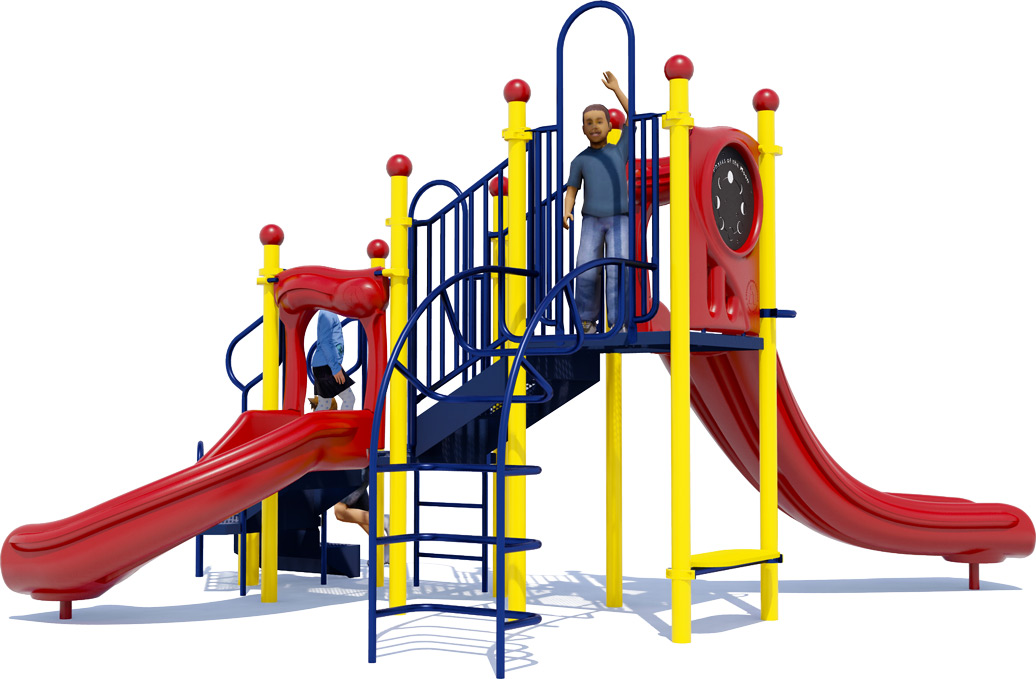 Jumping Jack Play Structure - Primary Colors - Front View