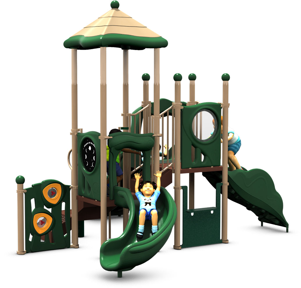 Tiki Tall - Commercial Play Structure - Natural - Back