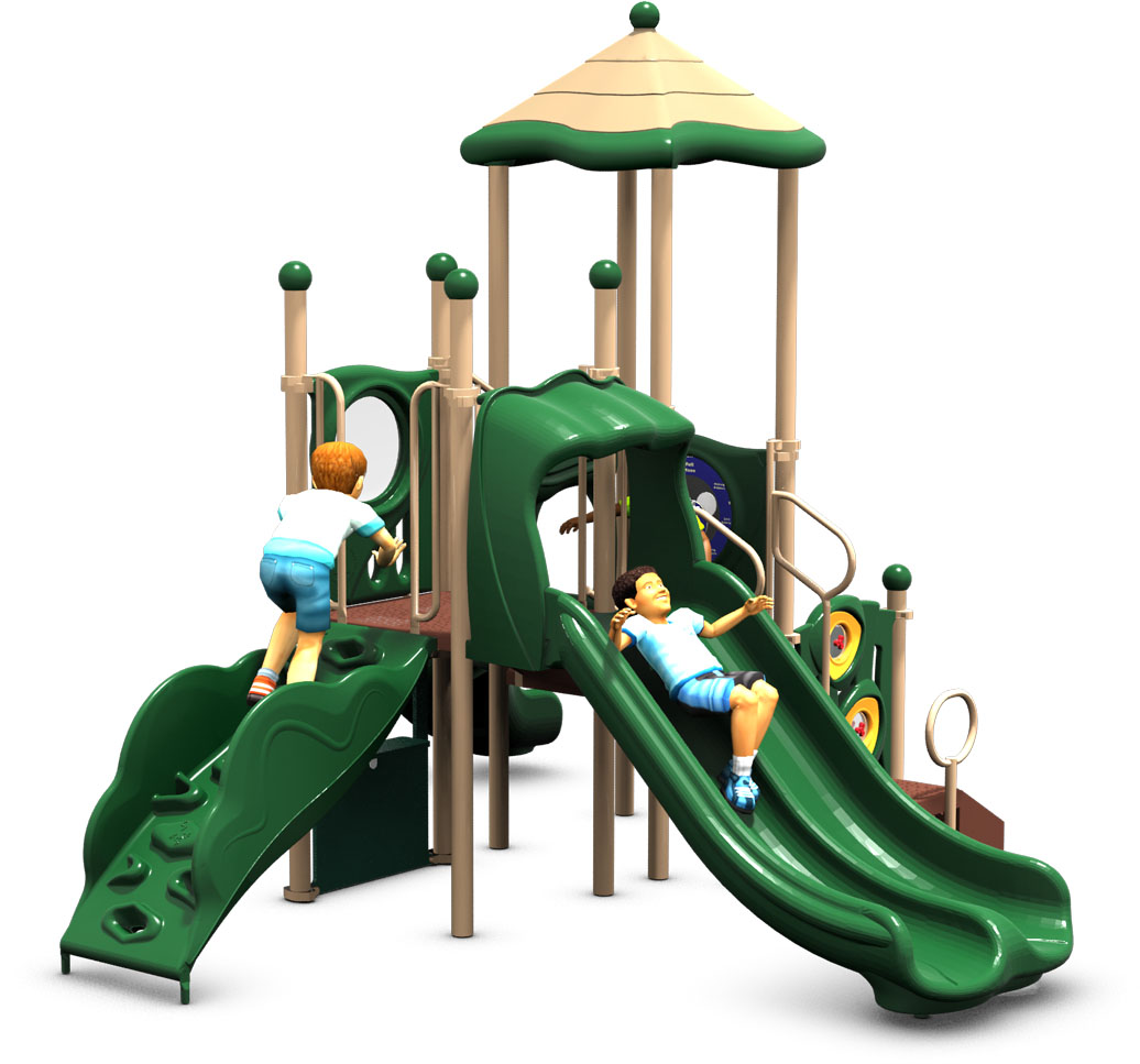 Tiki Tall - Commercial Play Structure - Natural - Front