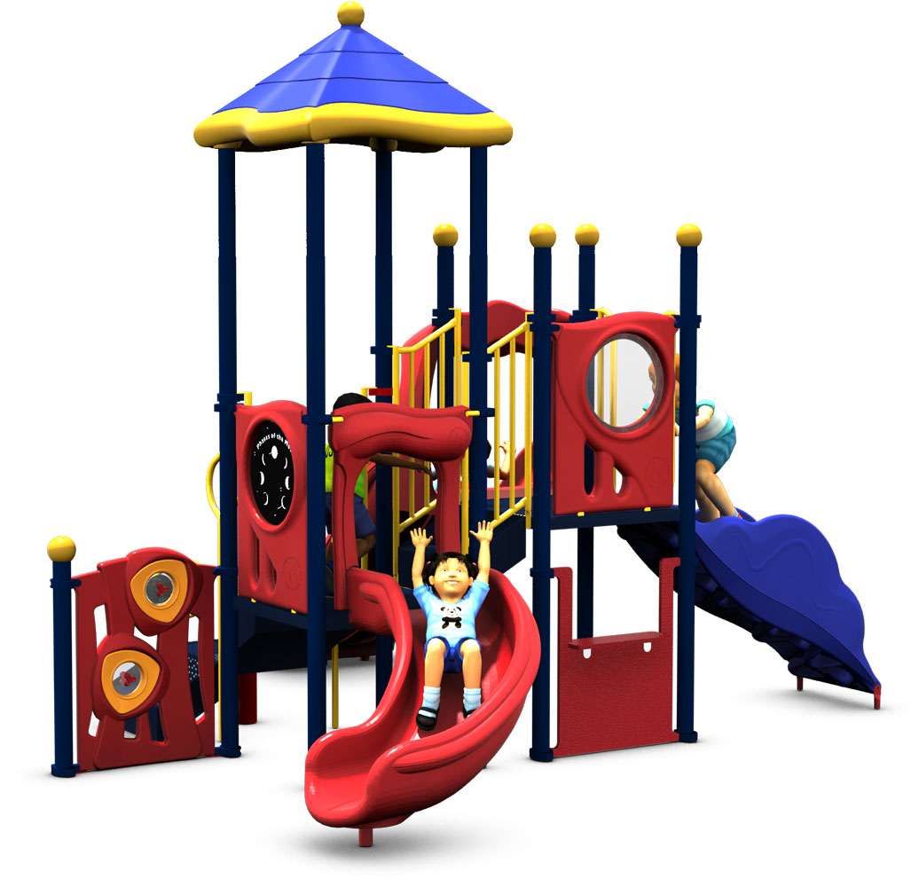 Tiki Tall - Commercial Play Structure - Primary - Back