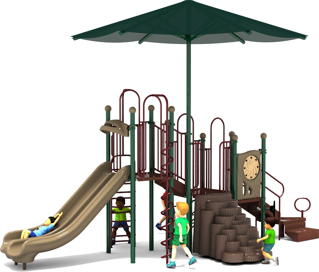 Shaded Mountain - Natural Colors - Front - Commercial Playground Equipment