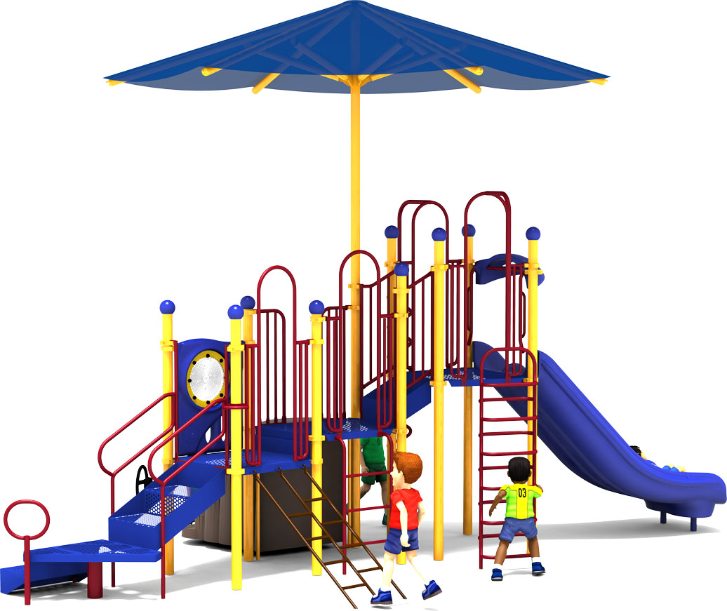 Shaded Mountain - Primary Colors - Back - Commercial Playground Equipment