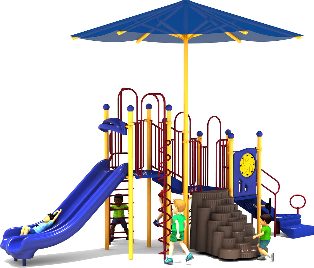 Shaded Mountain - Primary Colors - Front - Commercial Playground Equipment