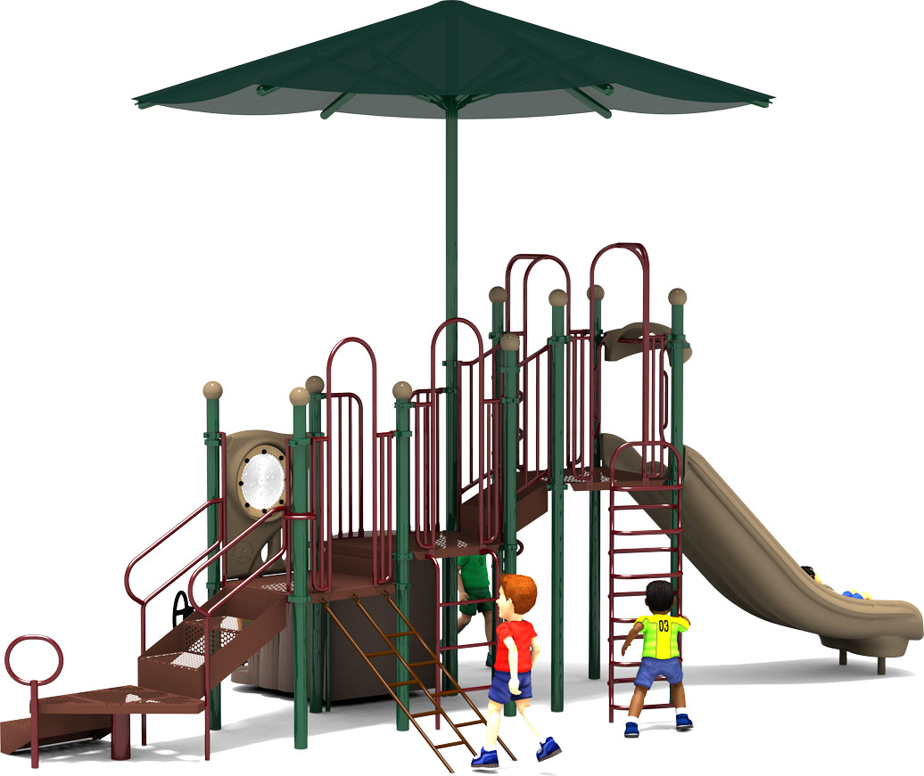 Shaded Mountain - Natural Colors - Back - Commercial Playground Equipment
