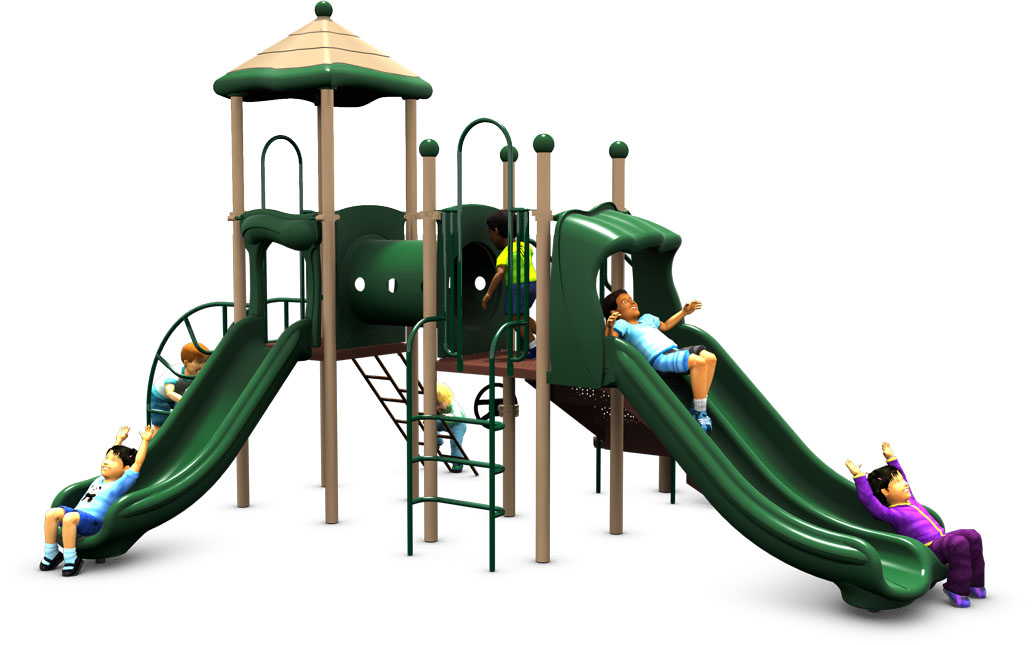 Super Train - Commercial Playground Equipment - Front - Natural