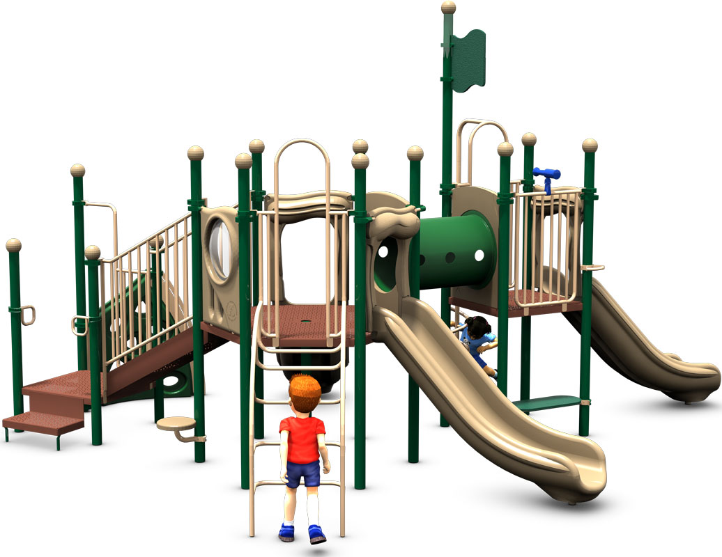 The Big One - Natural Color Scheme - Back View - Commercial Play Structure