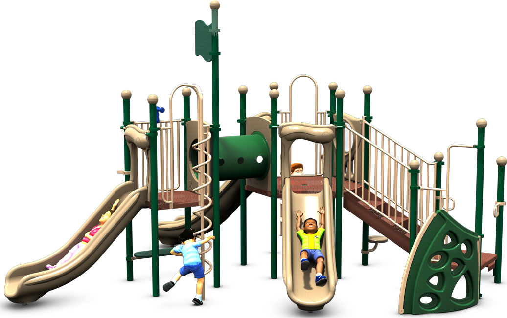The Big One - Natural Color Scheme - Front View - Commercial Play Structure