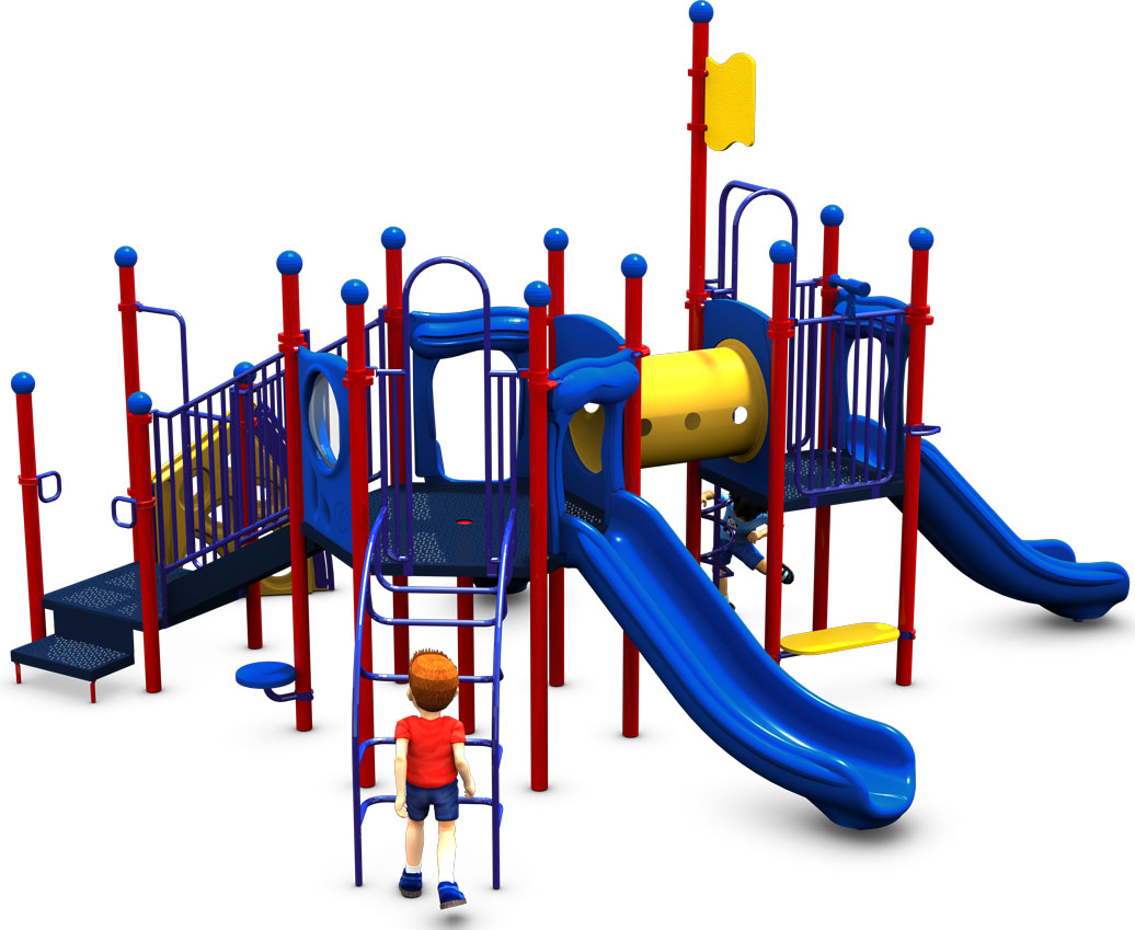 The Big One - Primary Color Scheme - Back View - Commercial Play Structure