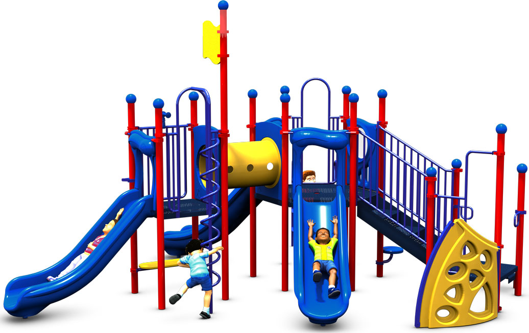 The Big One - Primary Color Scheme - Front View - Commercial Play Structure