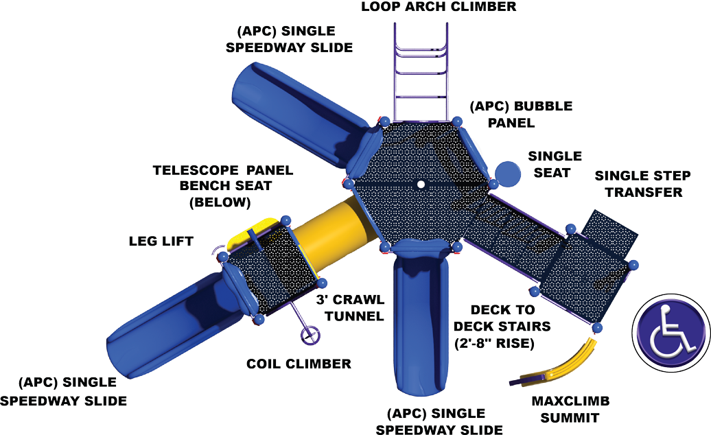 The Big One - Top View - Commercial Playground Structure - Primary