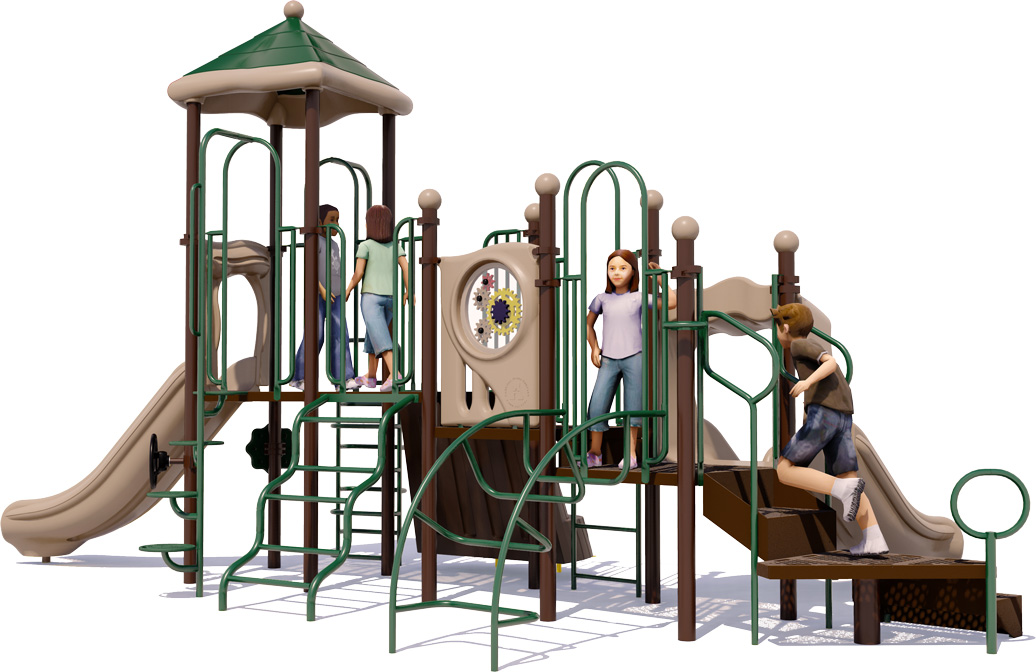 Tons of Fun Play Structure - Natural Colors - Rear View