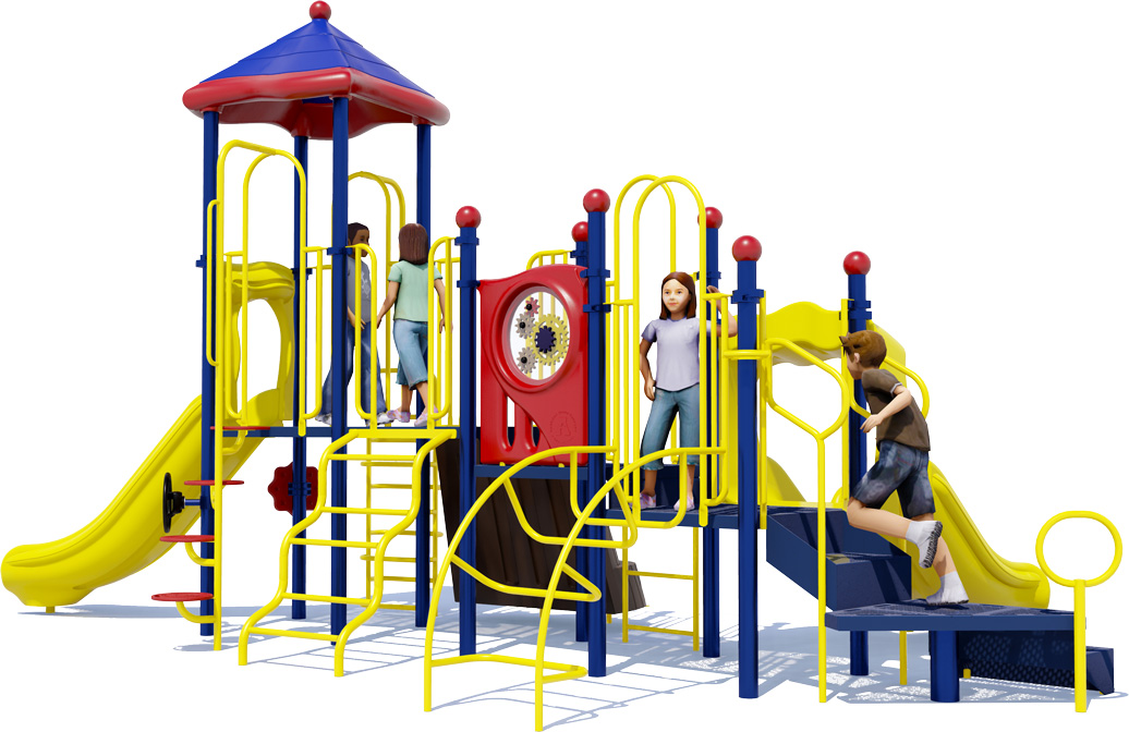 Tons of Fun Play Structure - Primary Colors - Rear View