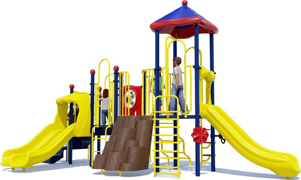 Tons of Fun Play Structure - Primary Colors - Front View