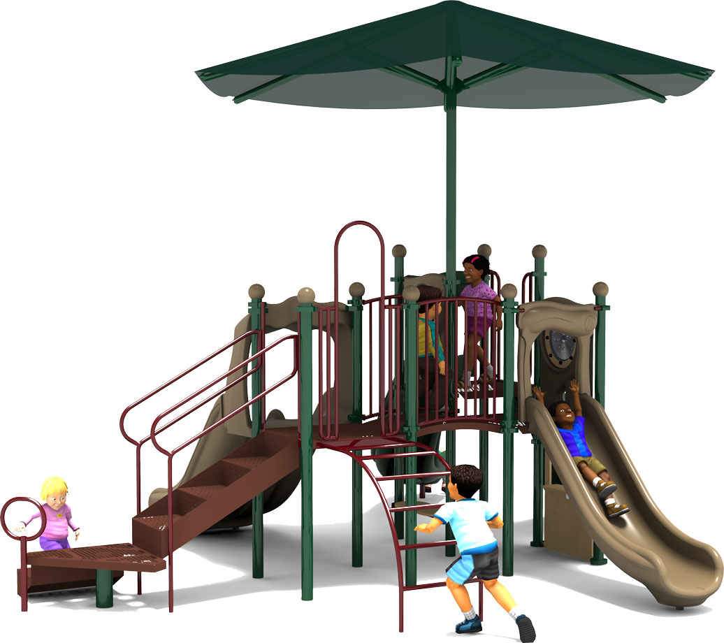 Jamboree - Commercial Play Structure - Natural Color Scheme - Back View
