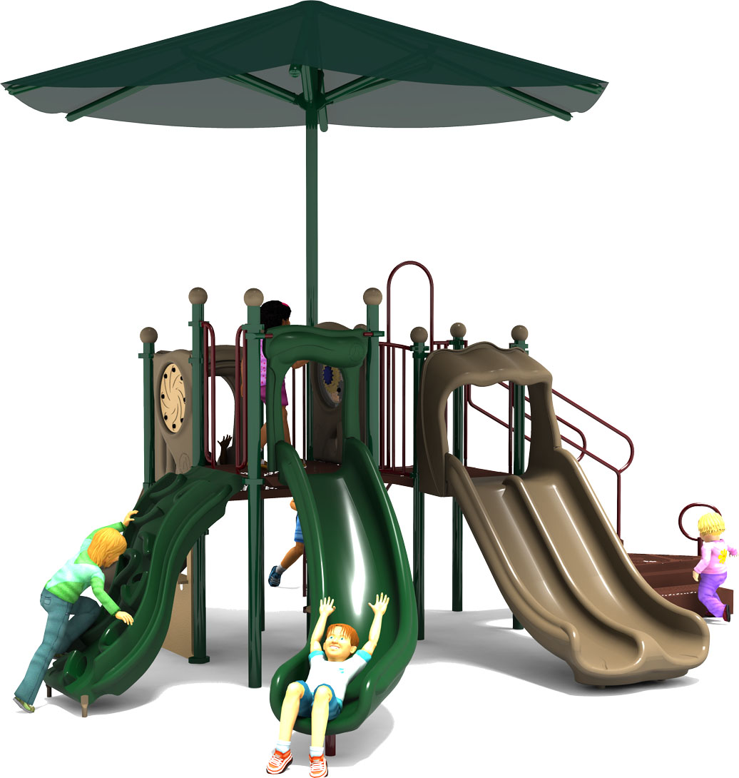 Jamboree - Commercial Play Structure - Natural Color Scheme - Front View