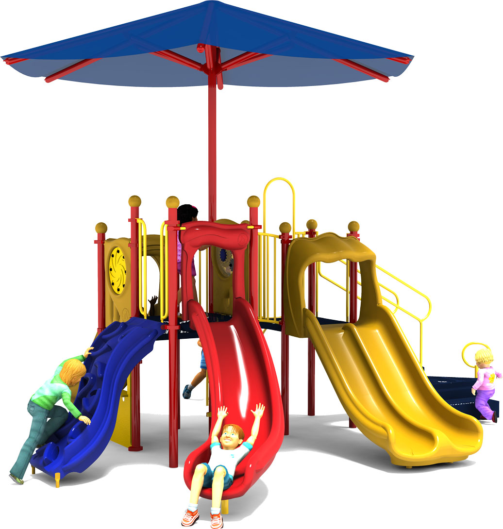Jamboree - Commercial Play Structure - Primary Color Scheme - Front View