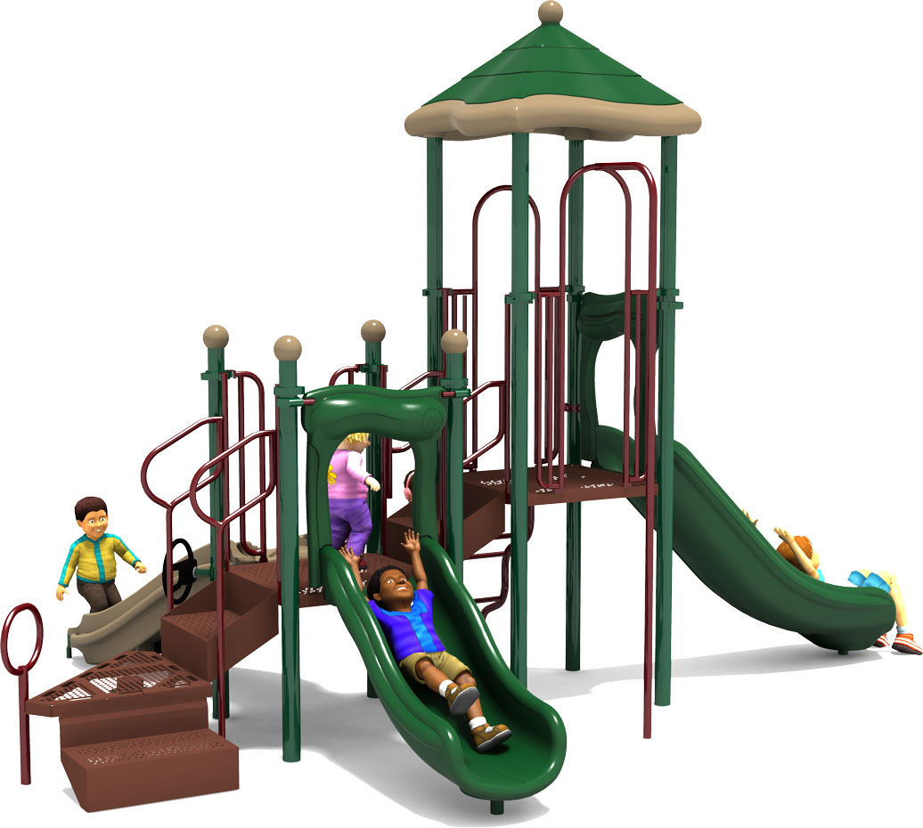 Commercial Playground Equipment - Apple a Day - Natural - Back