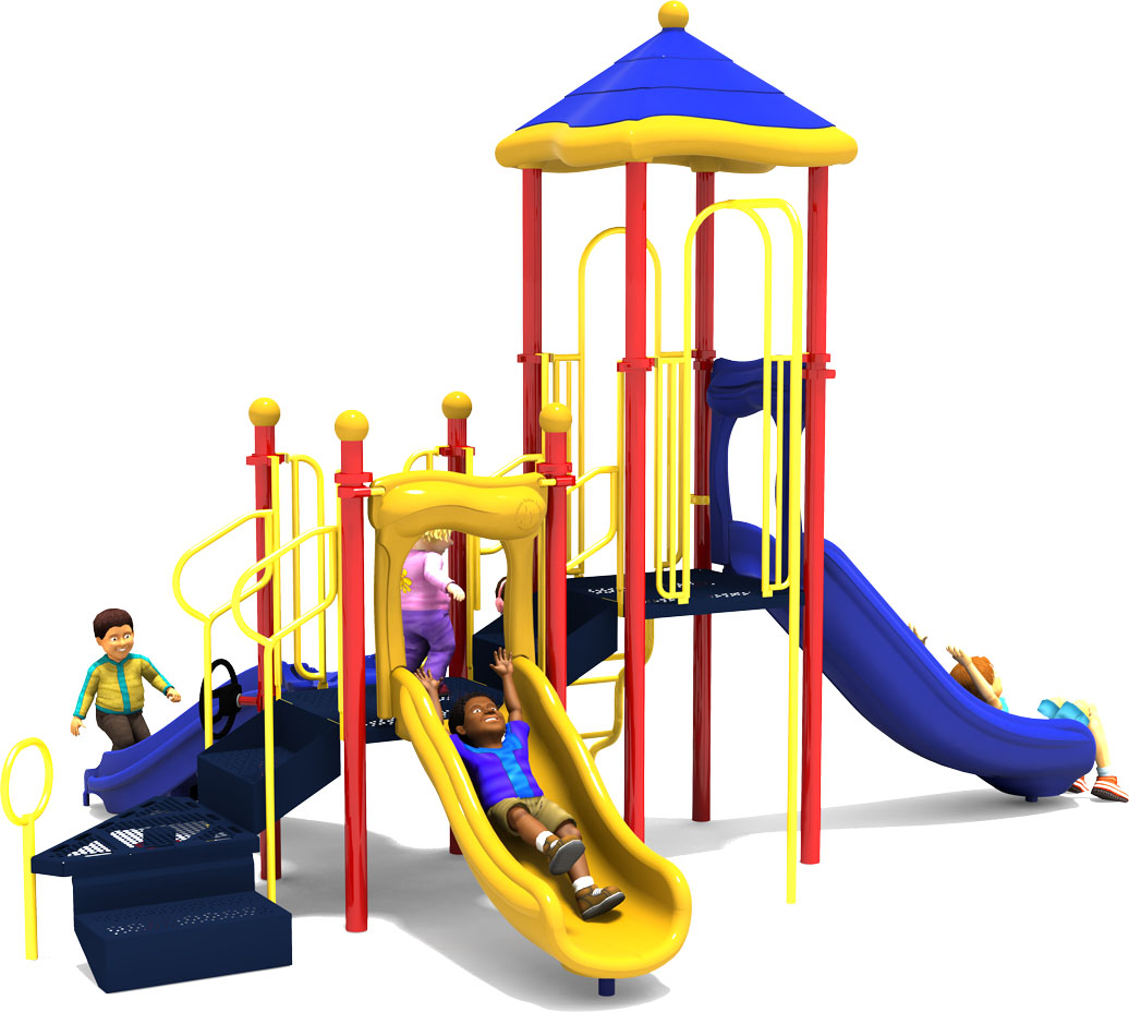 Commercial Playground Equipment - Apple a Day - Primary - Back