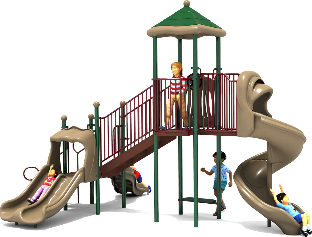 Crazy Crawl Play Structure - Front - Natural Colors