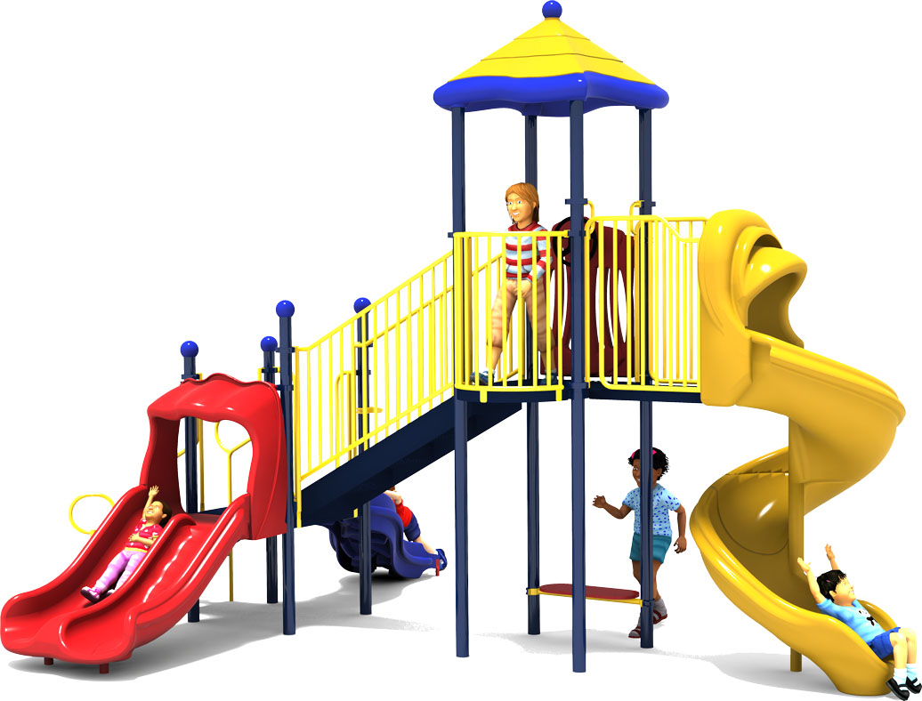 Crazy Crawl Play Structure - Front - Primary Colors