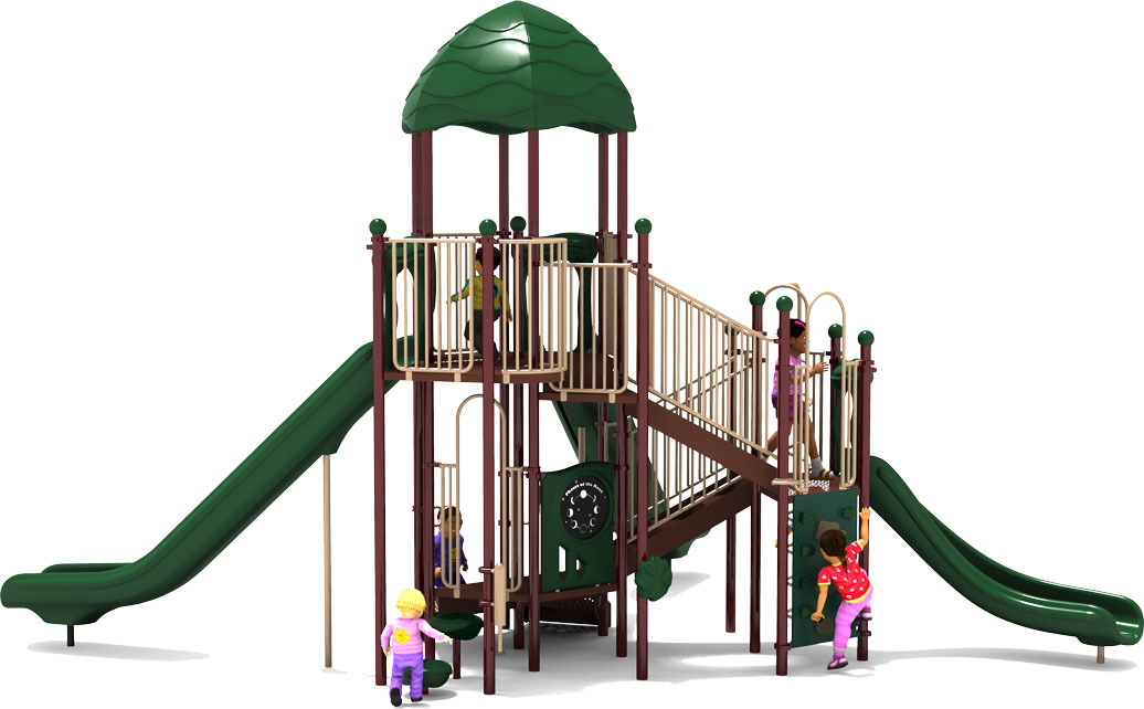 Bigger is Better - Natural Color Scheme - Back View - Commercial Playground Equipment