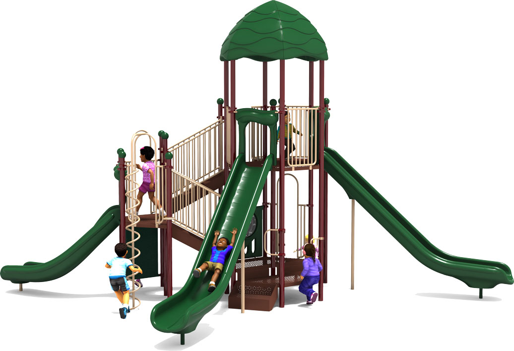 Bigger is Better - Natural Color Scheme - Front View - Commercial Playground Equipment