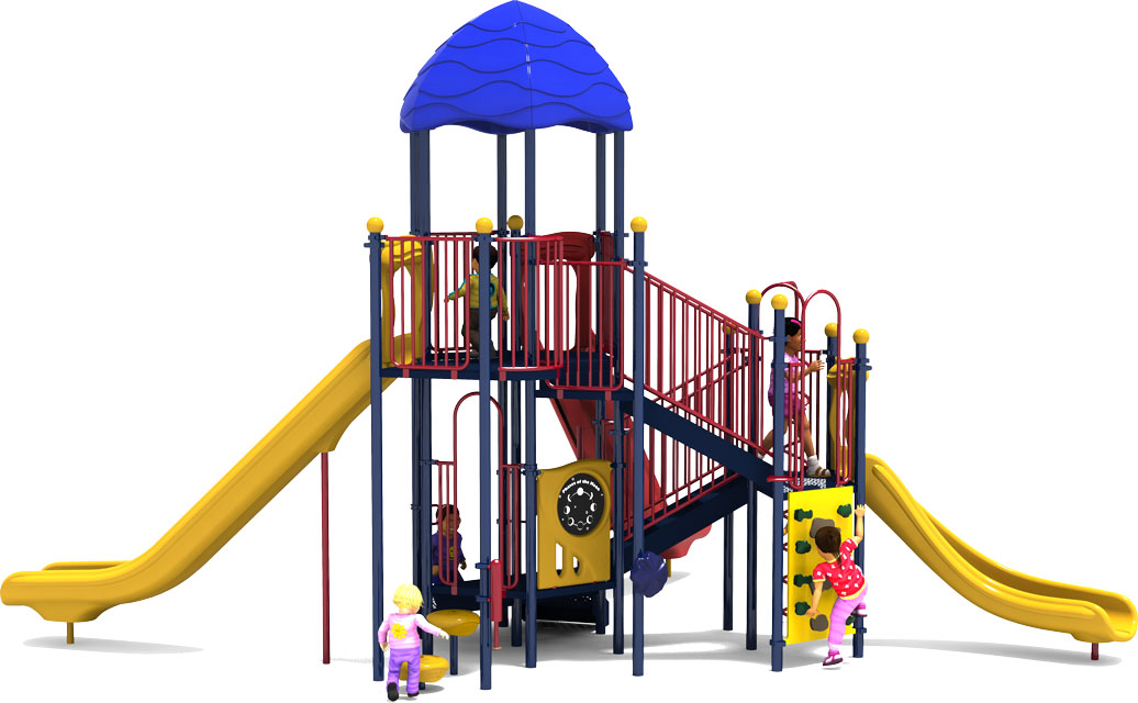 Bigger is Better - Primary Color Scheme - Back View  - Commercial Playground Equipment