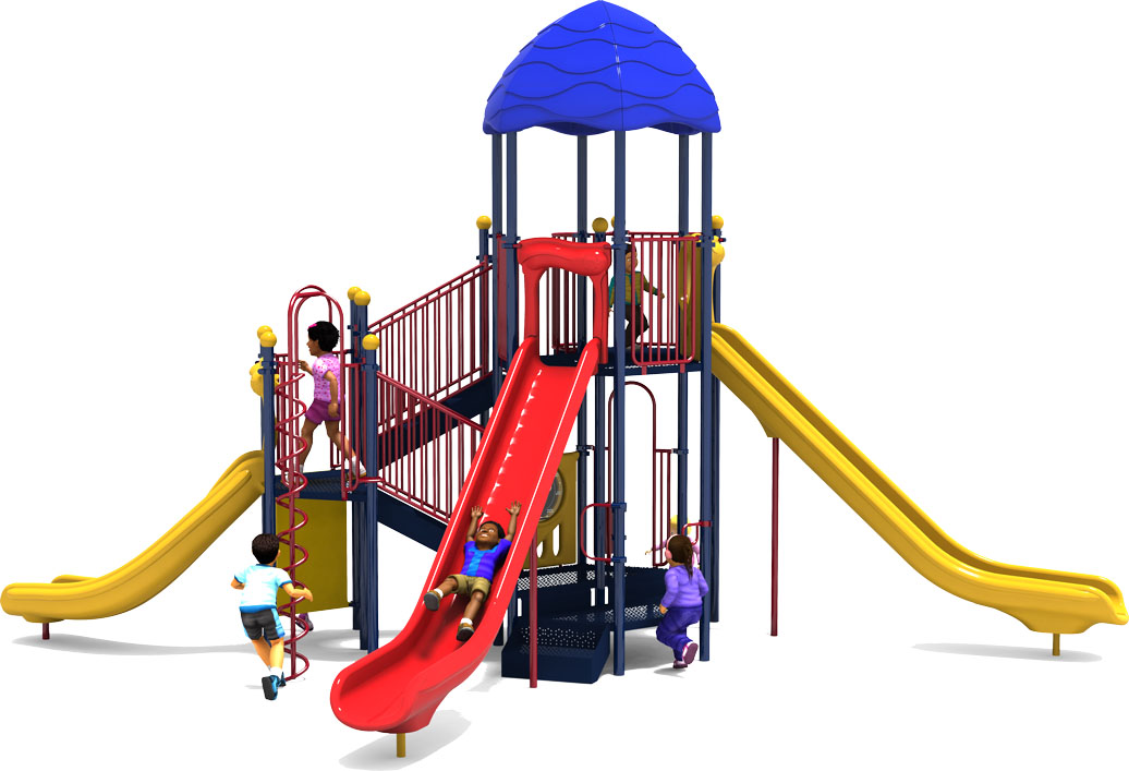 Bigger is Better - Primary Color Scheme - Front View - Commercial Playground Equipment