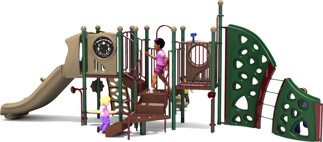 Mind Over Matter - Natural - Back View - Commercial Playground Equipment