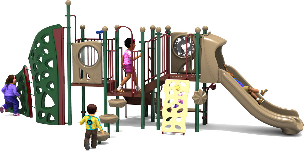 Mind Over Matter - Natural - Front View - Commercial Playground Equipment