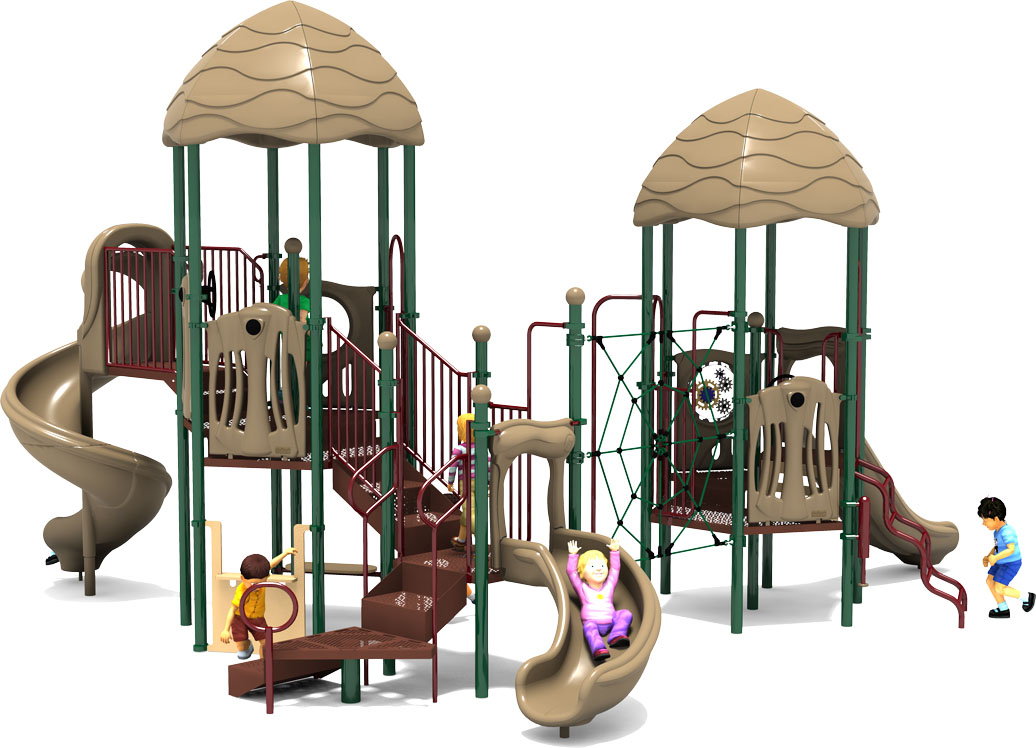 Round Robin - Commercial Play Structure - Natural Color Scheme - Front