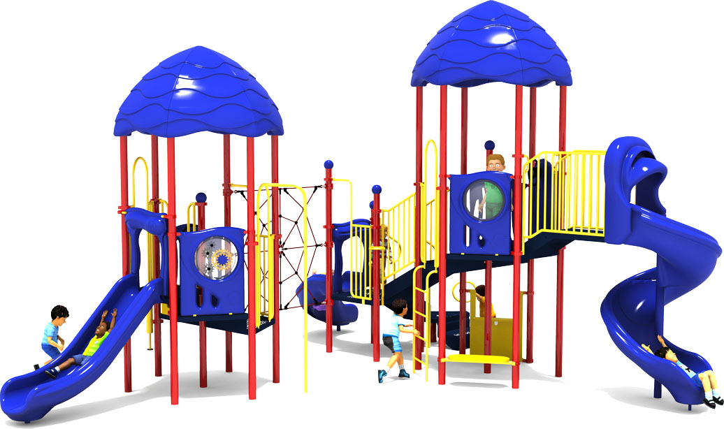Round Robin - Commercial Play Structure - Primary Color Scheme - Back