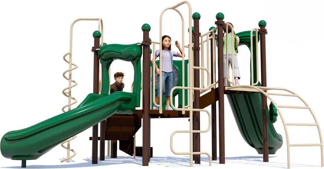 Game On Play Structure - Natural Color Scheme - Front View