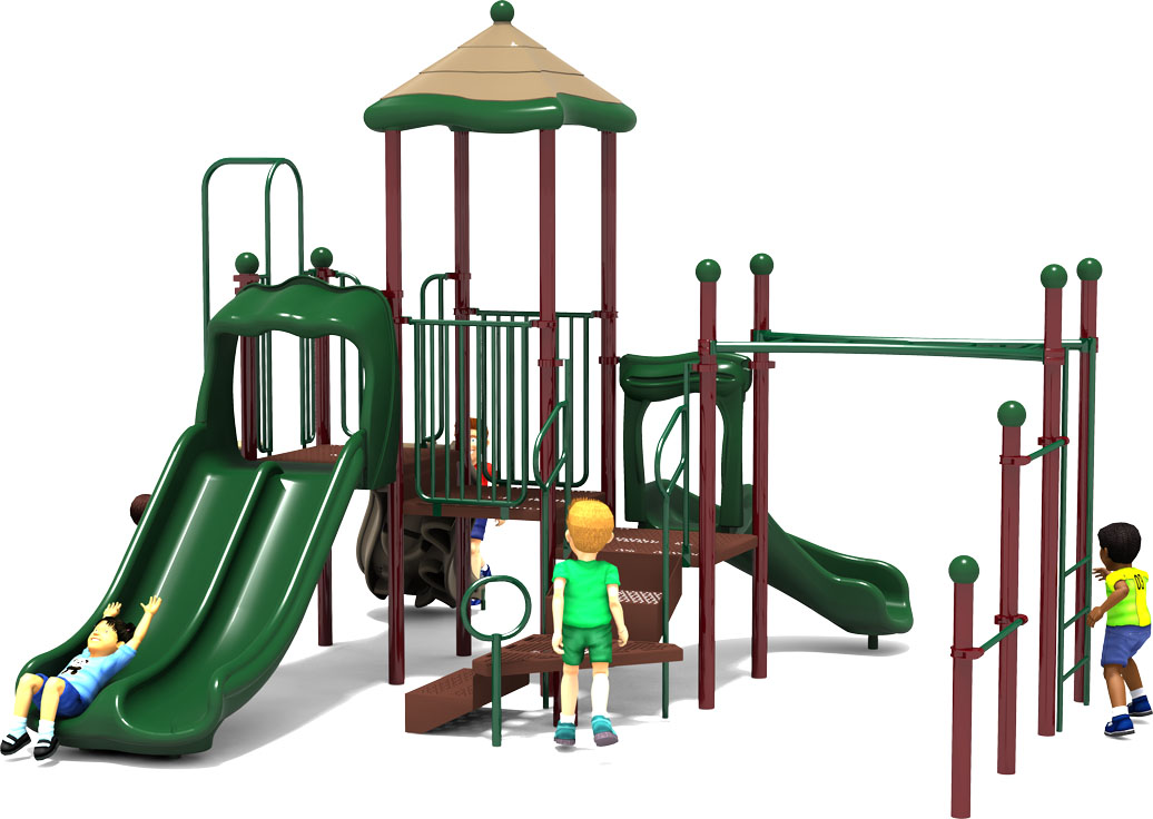 Fun Zone - Commercial Playground Equipment - Natural - Front