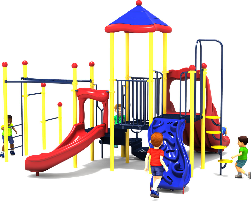 Fun Zone - Commercial Playground Equipment - Primary - Back