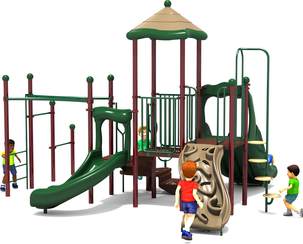 Fun Zone - Commercial Playground Equipment - Natural - Back