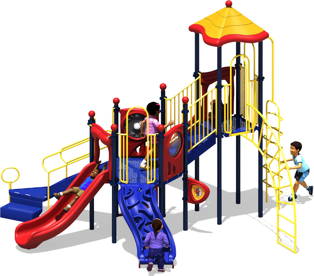 Central Station Play Structure - Primary Color Scheme - Front View