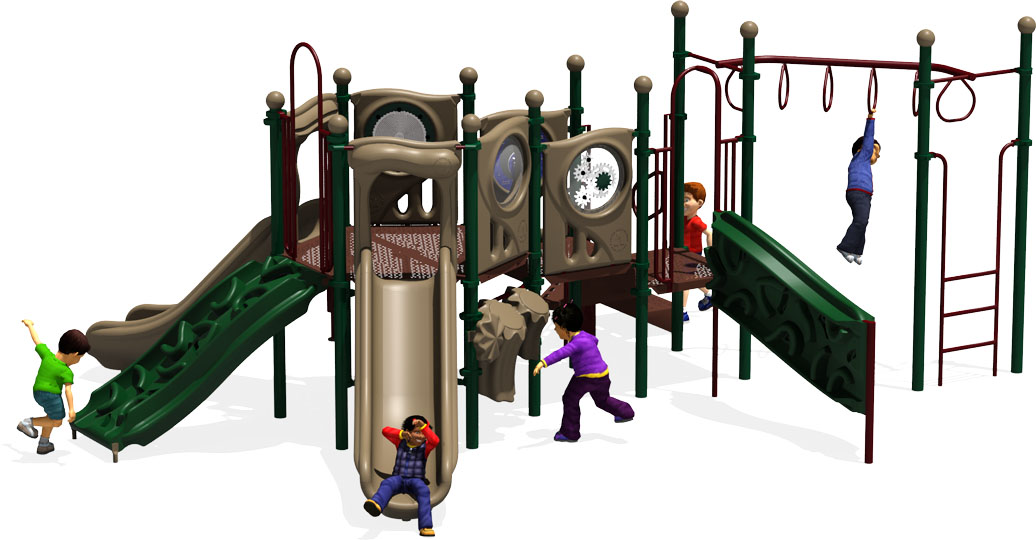 Connect Five - Commercial Playground Equipment - Natural - Front View