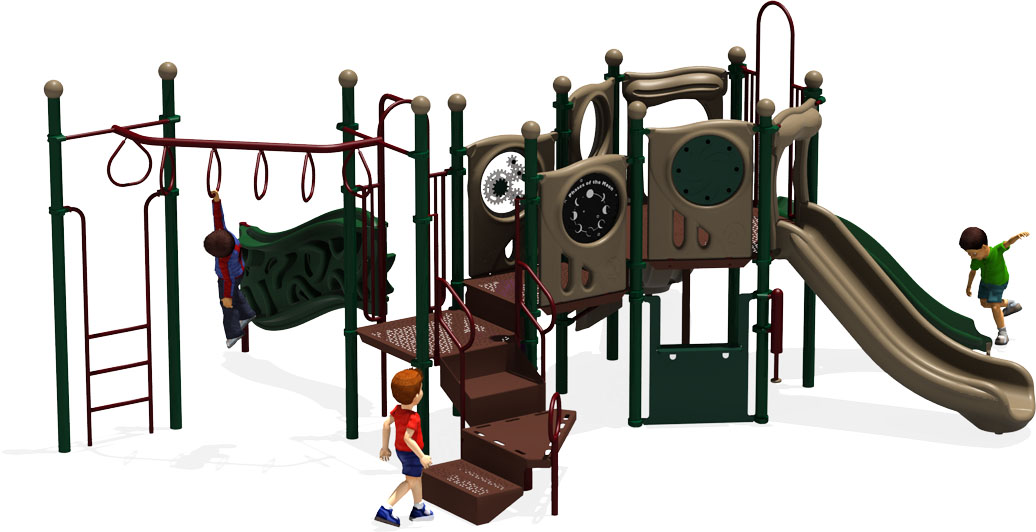 Connect Five - Commercial Playground Equipment - Natural - Back View